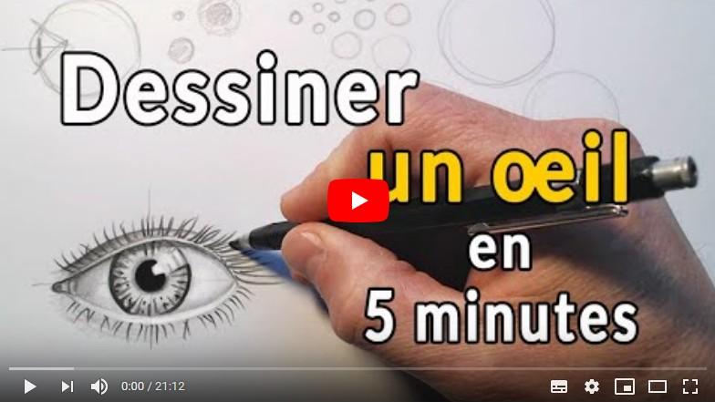 Dessiner un oeil facilement  en moins de 5 minutes