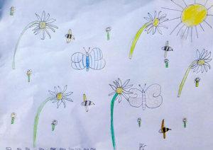 Le don du dessin - Dessin d'enfant
