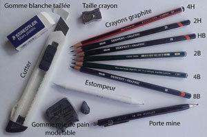 Dessiner au crayon graphite - Le matériel