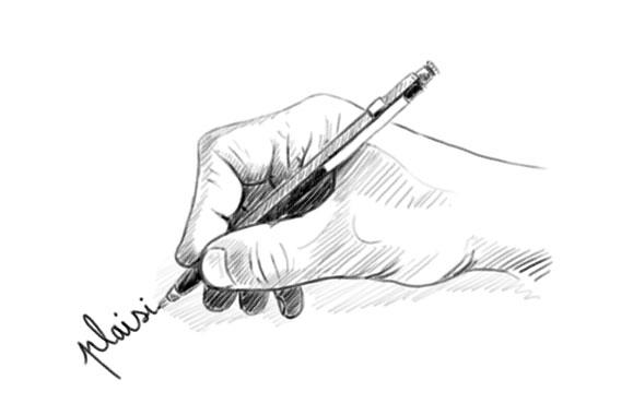 comment tenir son crayon pour dessiner - mine proche