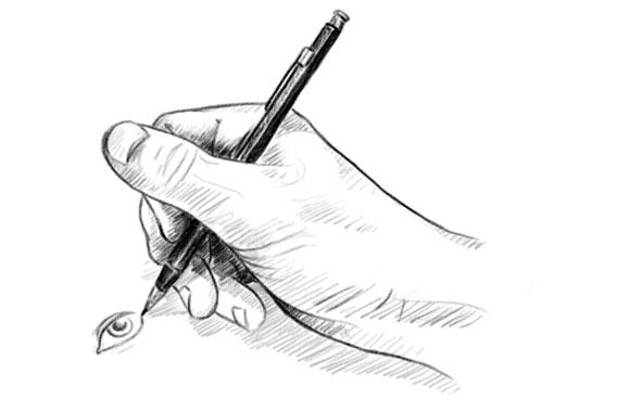 comment tenir son crayon pour dessiner - autre technique